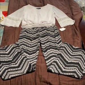 Top & Bell Bottom Pant. Pant NWT!